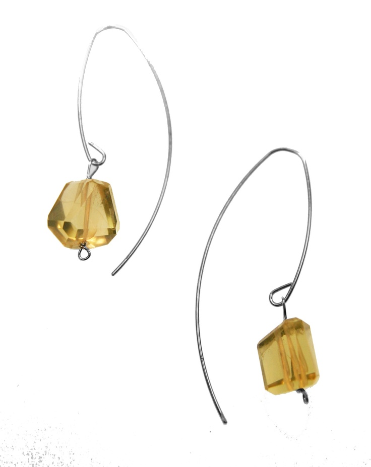 Melissa McArthur Jewellery Lemon Quartz Drop Earing in Sterling Silver