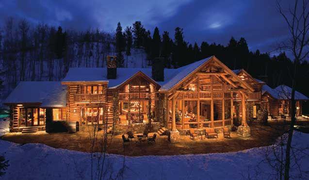 Custom Log Homes Rustic Cabins Home Living