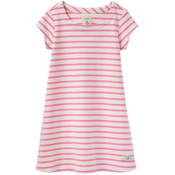 Joules Jersey Stripe Dress ($26) ❤ liked on Polyvore featuring dresses, pink dress, joules dresses, stripe dresses, striped dress and jersey dresses