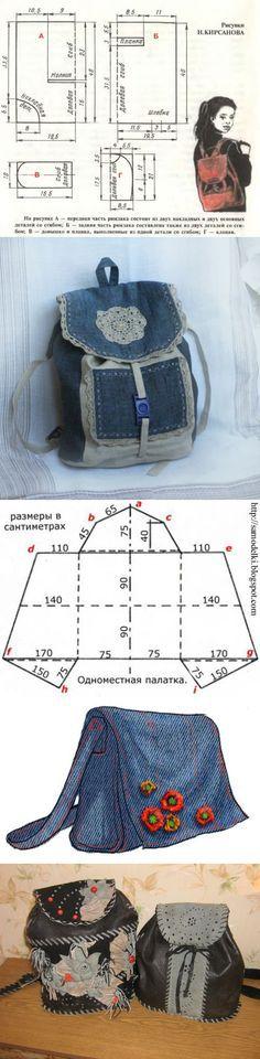 patrón mochila con sus propias manos. - Bolsos de producto, embragues, carteras, maletas y mochilas 2015