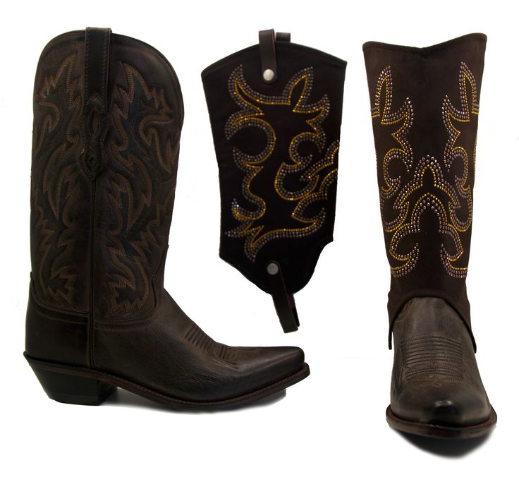 Old West Boots With Cowgirl Gold