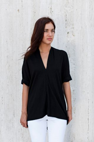 Black Muse Top, Silk – Miranda Bennett Studio, LLC