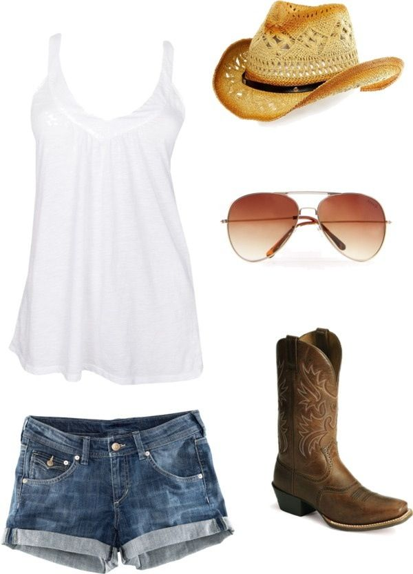Summer country clothes - shorts not near as short but yess I love it