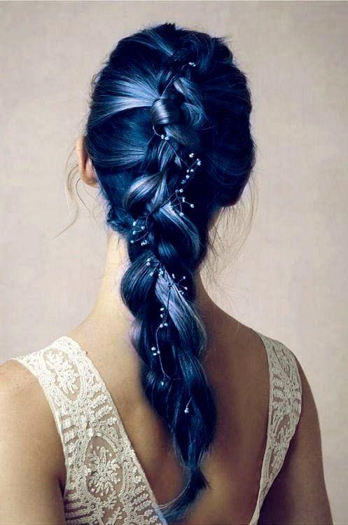 15 Dunkles Haar Farbe Ideen! Blau Ombre Haar
