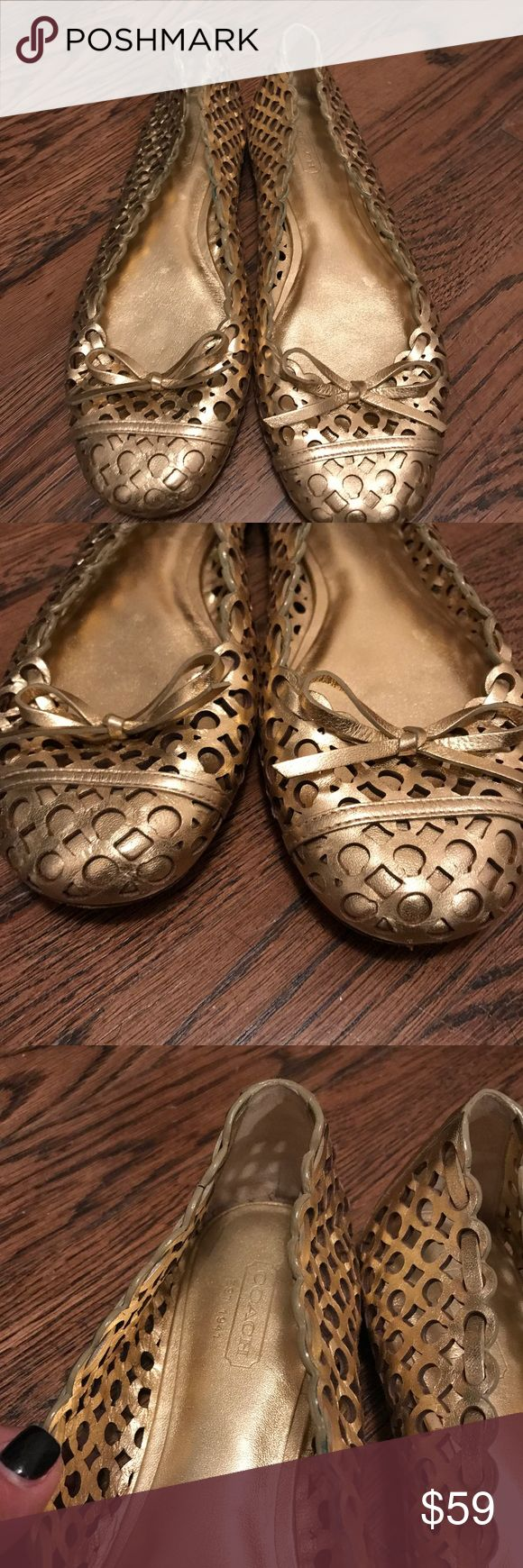 Coach gold ballet flats Comfortable, great coach gold ballet flat! Coach Shoes Flats & Loafers