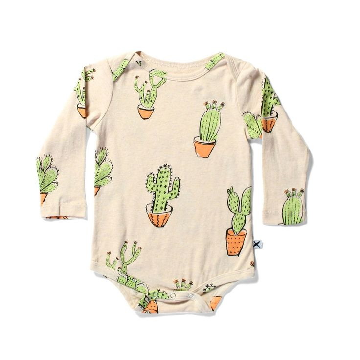 Minti Baby Cactus LS Onesie ~ Cool Baby Clothes ~ Tiny Style Australia