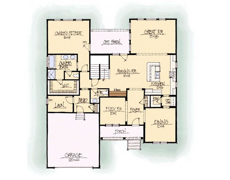Schumacher homes the monroe series first story floor plan for House plans monroe la