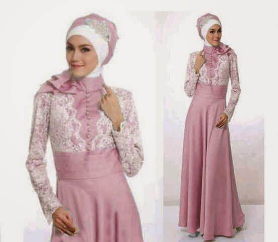 Long dress sifon muslimah cantik