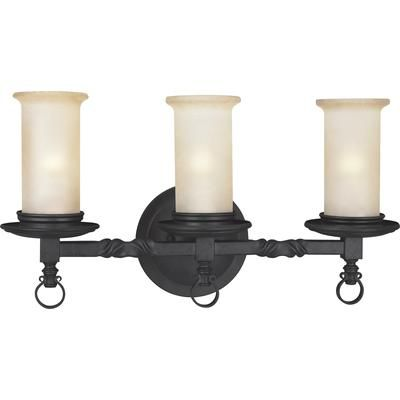 Progress Lighting - Santiago Collection Forged Black 3-light Wall Sconce - 785247135257 - Home Depot Canada
