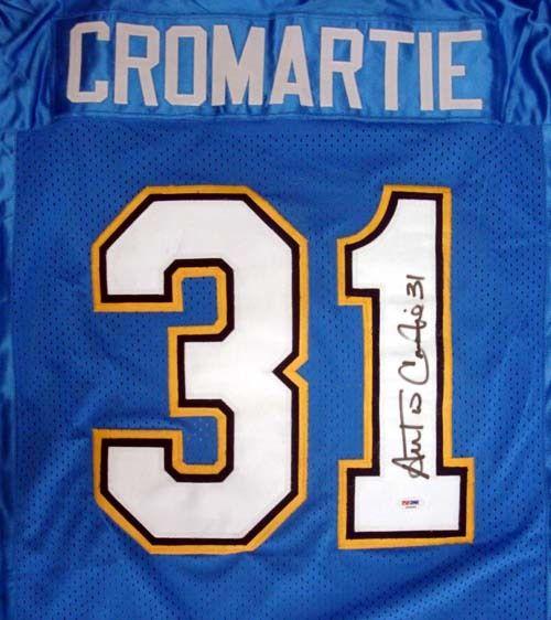 Antonio Cromartie Autographed San Diego Chargers Blue Jersey PSA/DNA