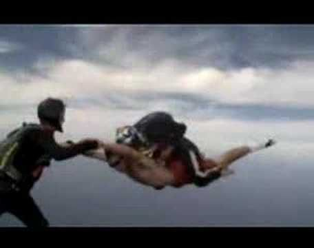 travis pastrana skydiving without a parachute. maybe one day i'll try this idk though