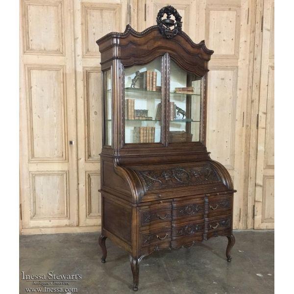 Antique Furniture | Antique Desks & Secretaries | 19th Century French Louis XVI Secretaire ~ Bibliotheque | www.inessa.com