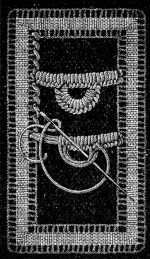 FIG. 701. BAR WITH BUTTONHOLE PICOT.