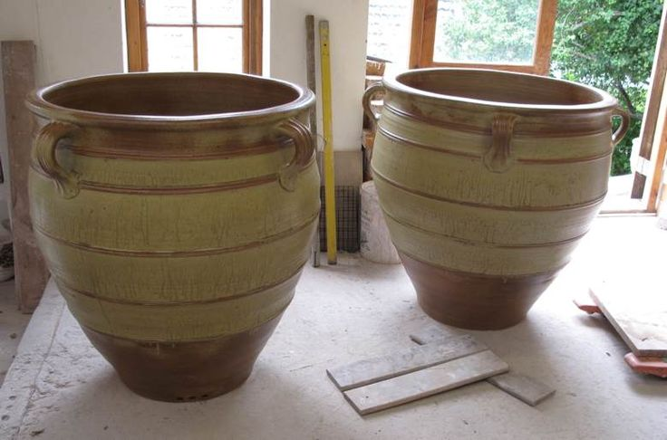 Two large planters - December 2010