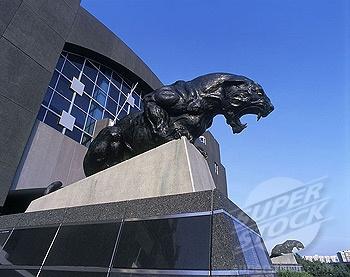 Carolina panthers stadium, downtown, Charlotte, North carolina.