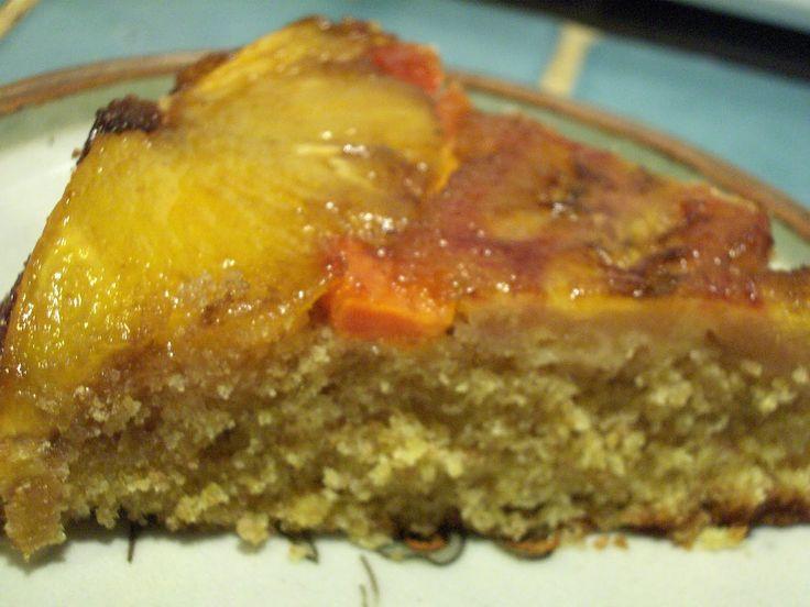 Tropical Upside-Down Cake with Pineapple, Banana and Papaya