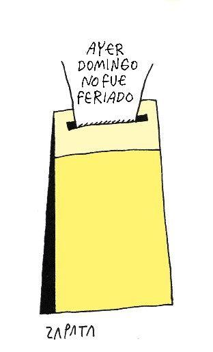 Caricatura de Zapata en la página de Opinión. Caracas, 12-04-2013 (PEDRO LEON ZAPATA / EL NACIONAL). Publicada: 15-04-2013. Nación 13