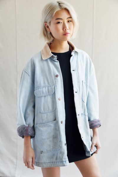 Urban Renewal Vintage Bleached Chore Coat - Urban Outfitters