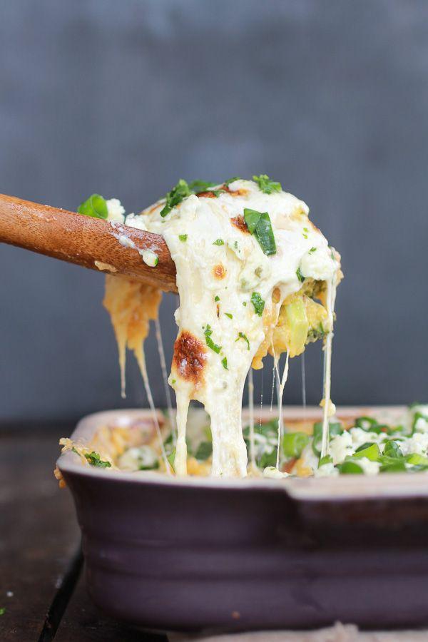 Whoa now!!!! Easy Creamy Buffalo Chicken Quinoa Bake via Half Baked Harvest #comfort #casserole