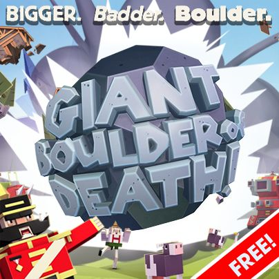 Giant Boulder of Death is our latest outing with Adult Swim Games - grab it now for iOS! http://pikpok.com/games/gbod/