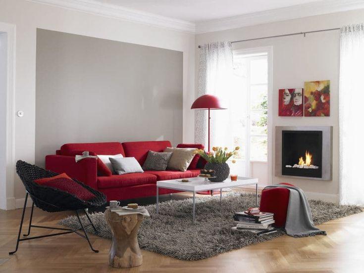 Die besten 25+ Wohnzimmer rot Ideen auf Pinterest blaue - wohnzimmer orange rot