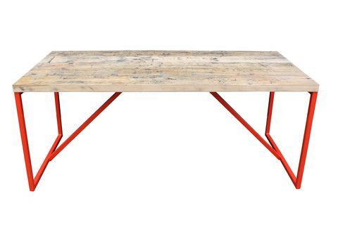 Kanteen table: carriage pine joined | Vintage Furniture | salvationfurniture.com | Warehouse Home Design Magazine