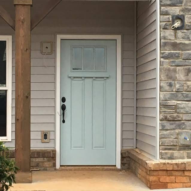 Front Door- Sherwin Williams Tradewind (SW 6218) – Open to the public for showings- Glade Springs Dr. Forest, VA in Farmington Subdivision, Open all Sundays 2-4pm