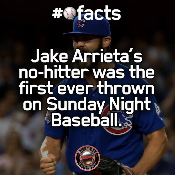 Jake Arrieta's no-hitter was the first ever thrown on Sunday Night Baseball.