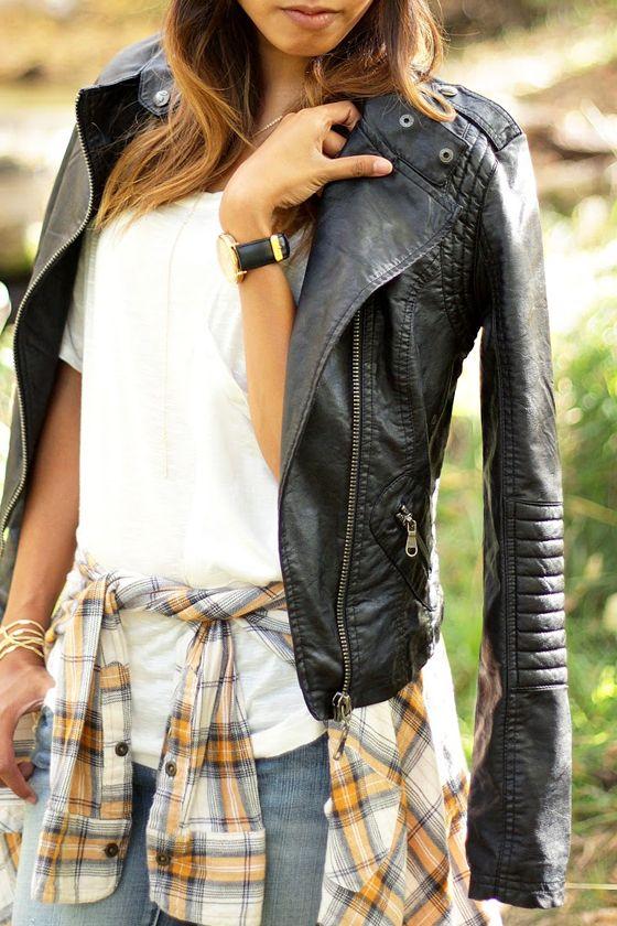 Black Swan Heart Black Vegan Leather Moto Jacket