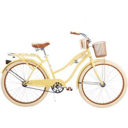 "26"" Huffy Nel Lusso Women's Cruiser Bike, Butter Yellow - Walmart.com"
