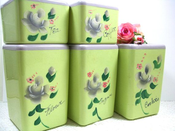 RESERVED FOR MARY Vintage Canister Set By Beacon 10 Piece Set