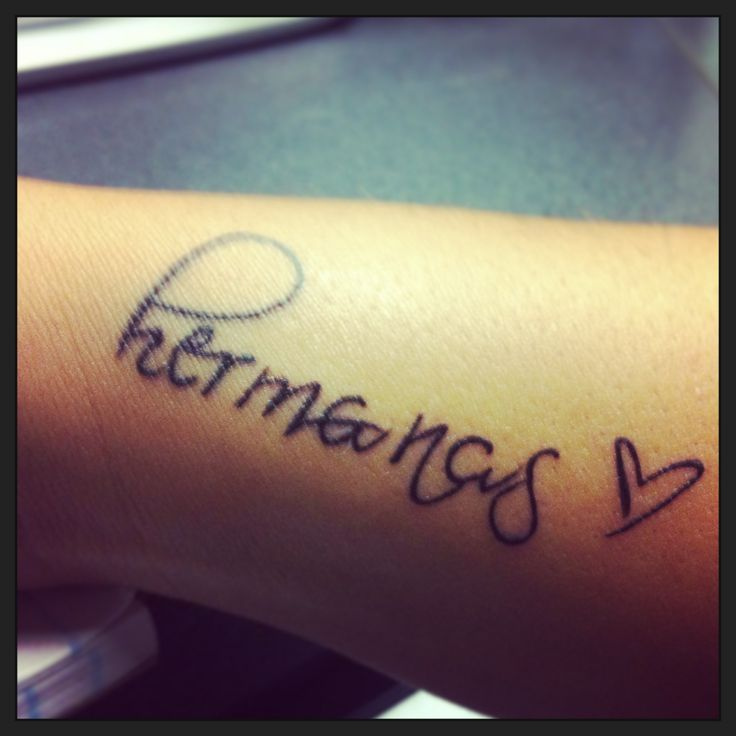 Tattoo sister in spanish and spanish on pinterest for Tattoo in spanish