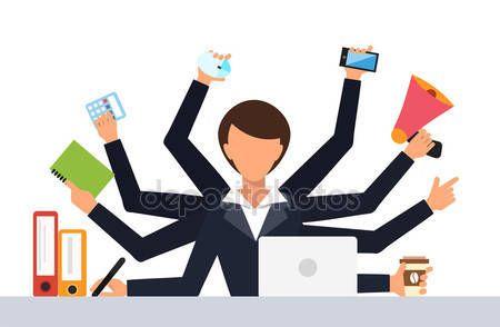 Ilustracja wektorowa pracy urząd pracy stres — Ilustracja stockowa #90103142
