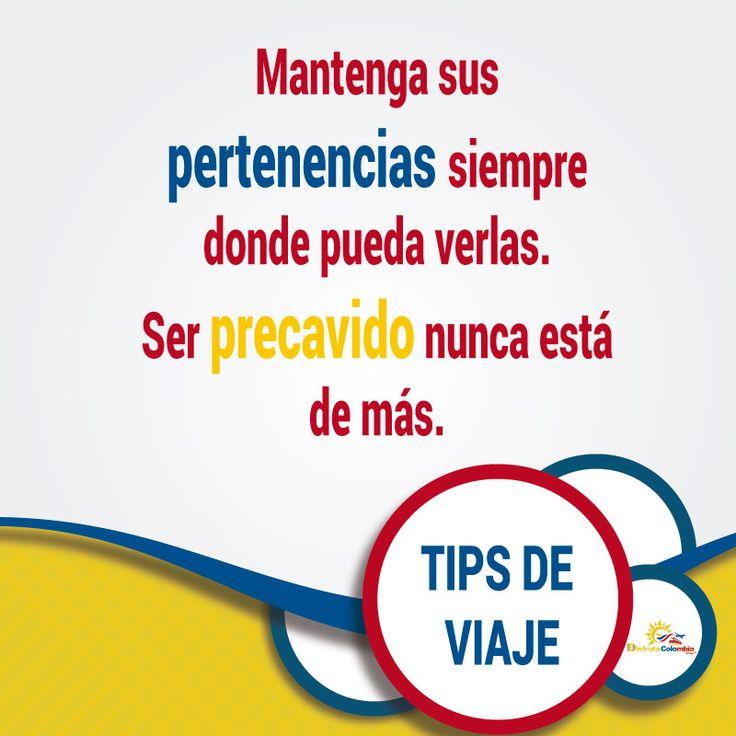 Mantente pilas y no descuides tus pertenencias en tus viajes Disfruta tranquilo tus #vacaciones con #disfrutacolombia