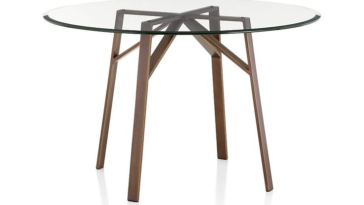 Belden Round Dining Tables with Glass Top | Crate and Barrel