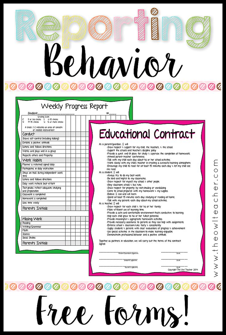 Behavior is one of the biggest classroom management problems teachers face and another is communicating to parents. Solve those issues by using these ideas, checklists, and forms to help keep track of discipline and work ethics- ALL FREE to download!