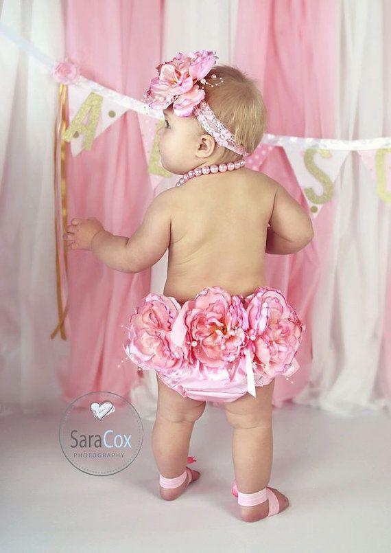 Boutique Azahar satén Bloomer Set bebé foto por PreciousPropsnMore
