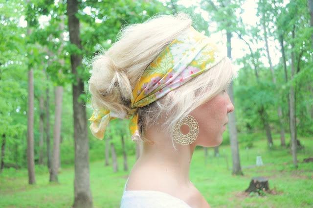 DIY Head Scarf- so simple & cute!: Summer Crafts, Head Scarfs, Hair Colors, Gifts Cards, Diy Head, Vanilla Tulip, Baby Shower Gifts, Fabrics Headbands, Scrap Fabrics