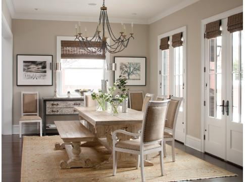 What a pretty room!: Wall Colors, Ideas, Living Rooms, Romans Shades, Traditional Dining Rooms, Dining Table, French Doors, Window Treatments, Dining Rooms Design