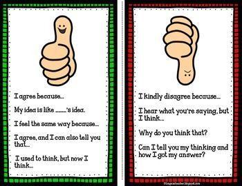 Math Talk Poster FREEBIE