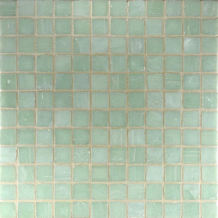 Celadon green glass mosaic  #green #celadon #bathroom