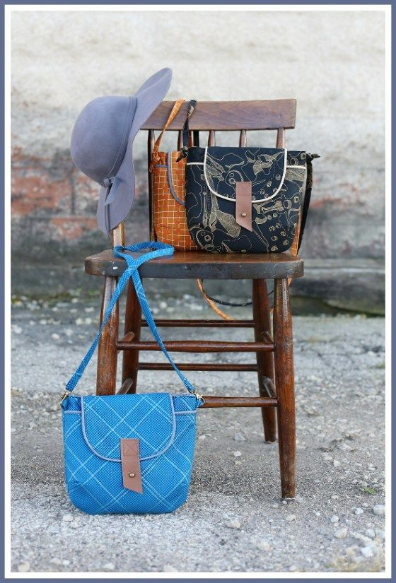 Gatherer Crossbody Bag - Free PDF Sewing Pattern