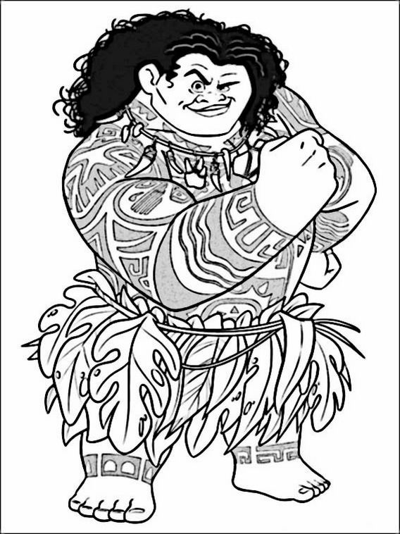 Vaiana - Moana Coloring Pages 2