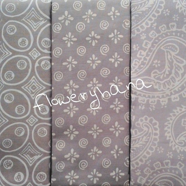 Batik Flowery Hana @floweryhana Instagram photos | Websta (Webstagram) | #Grey #Batik #Indonesia