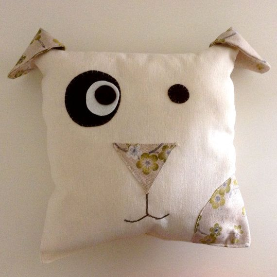 Handmade Dog #pillow. Ideal for kids rooms decor or birthday present!