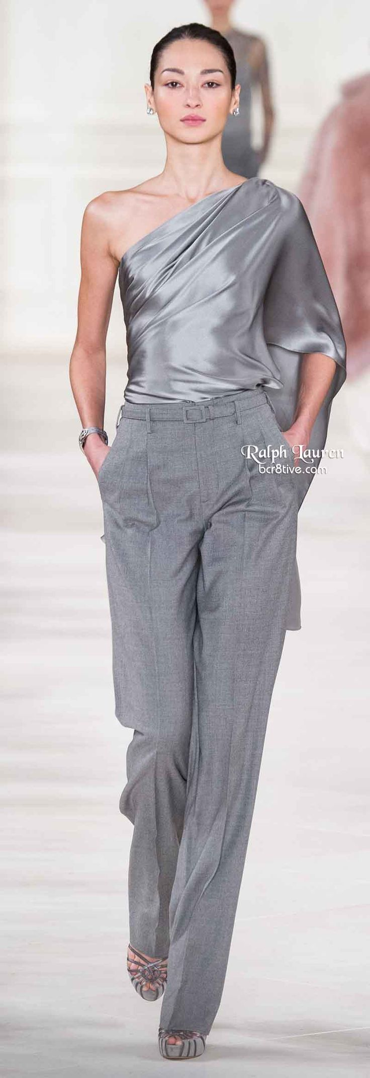 Ralph Lauren Fall 2014 v - Pantalón.
