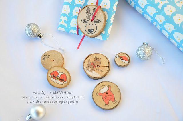 Hello Diy: Étiquettes cadeaux en rondin de bois !
