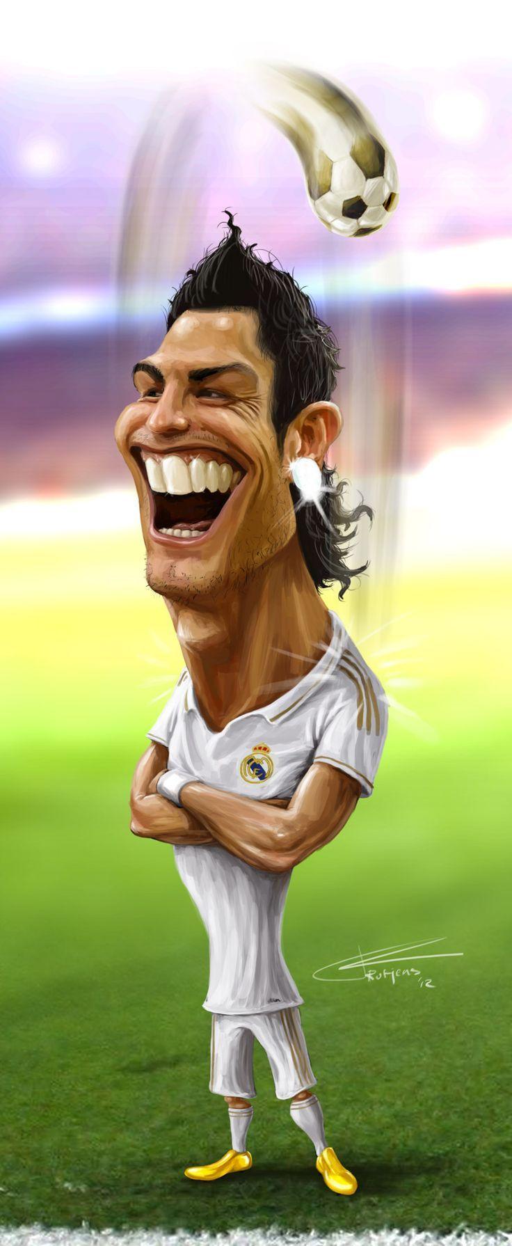 Caricatura de Cristiano Ronaldo