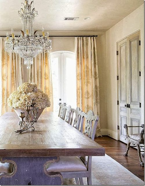 dining room. Rustic and glam at once.