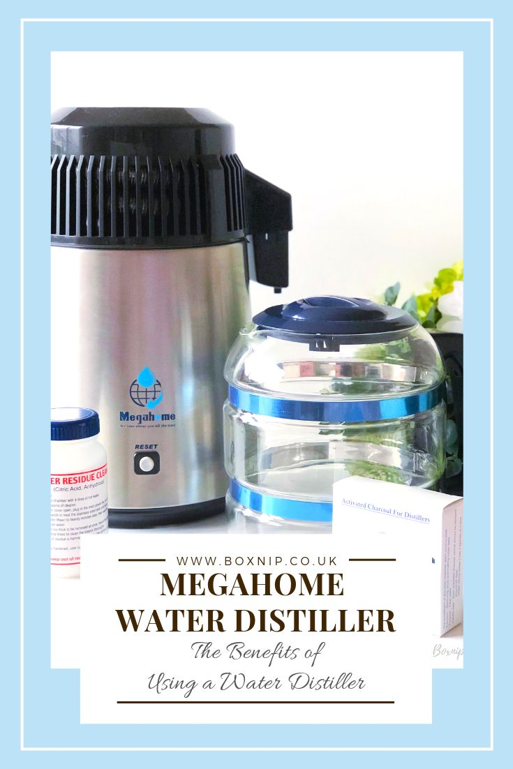 New Megahome Countertop Water Distiller White Glass Collection